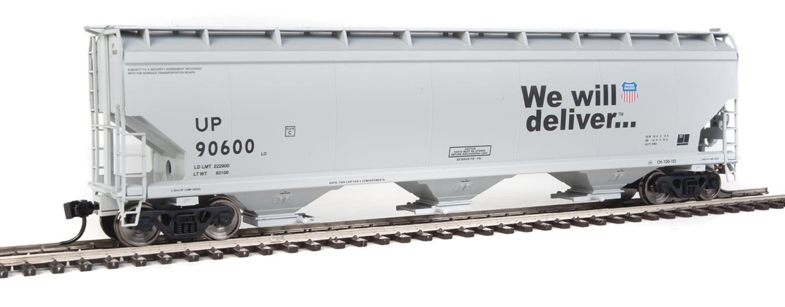 60' NSC 5150 3-Bay Covered Hopper Wagon Union Pacific #90600