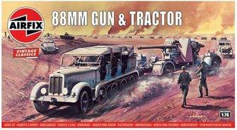 Airfix Vintage Classics - 88mm Gun & Tractor 1:76