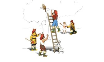 Scenic Accents - Firemen to the Rescue - HO Scale
