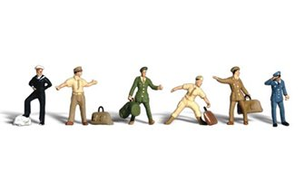 Scenic Accents - Uniformed Travelers - HO Scale