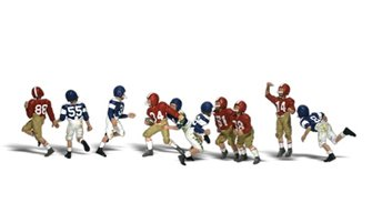 Scenic Accents - Youth Football Players - HO Scale