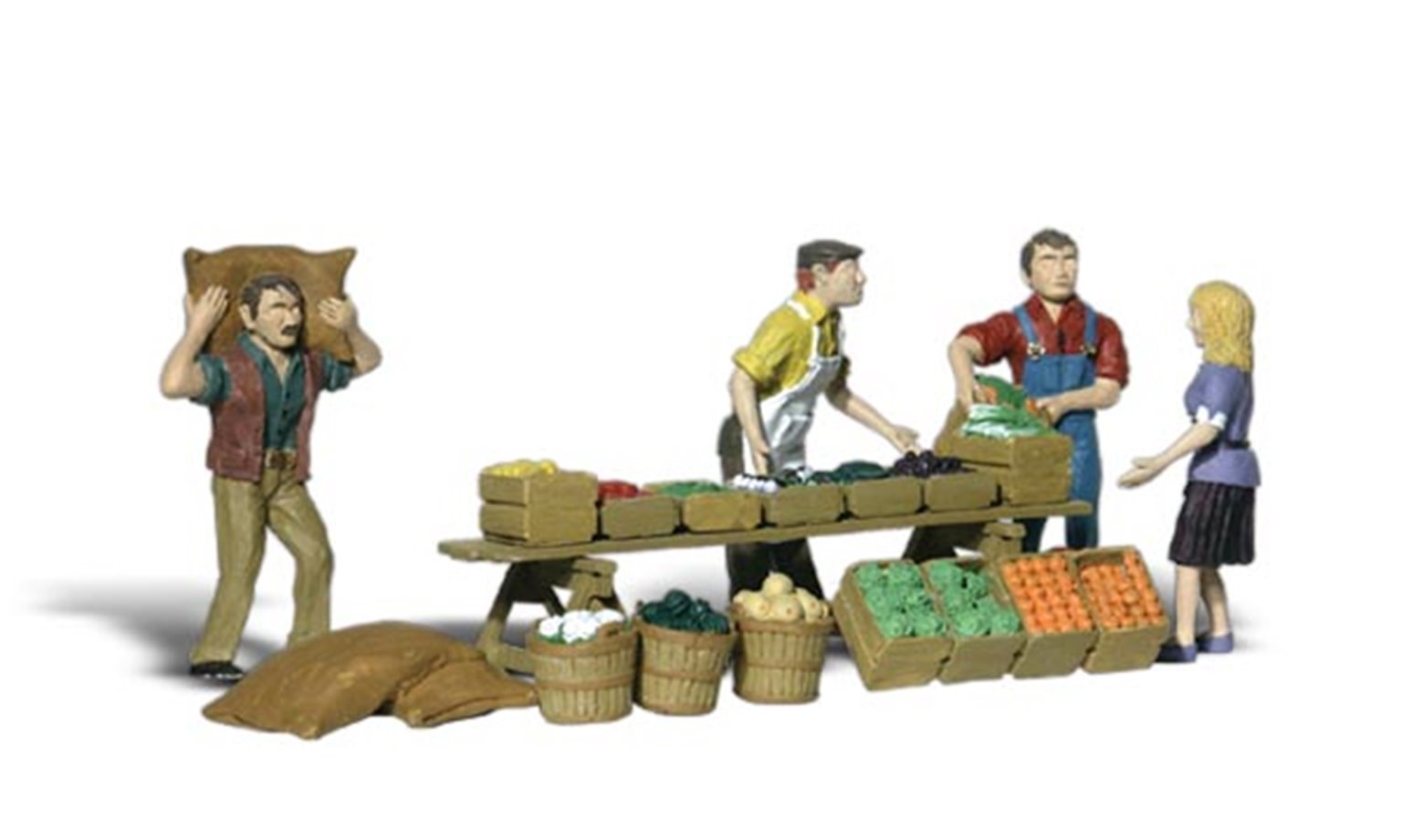 Scenic Accents - Farmers Market - HO Scale