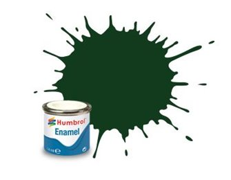 Humbrol 3 Brunswick Green Gloss - 14ml Enamel Paint