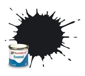 Humbrol 21 Black Gloss - 14ml Enamel Paint