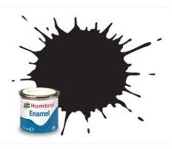 Humbrol 33 Black Matt - 14ml Enamel Paint