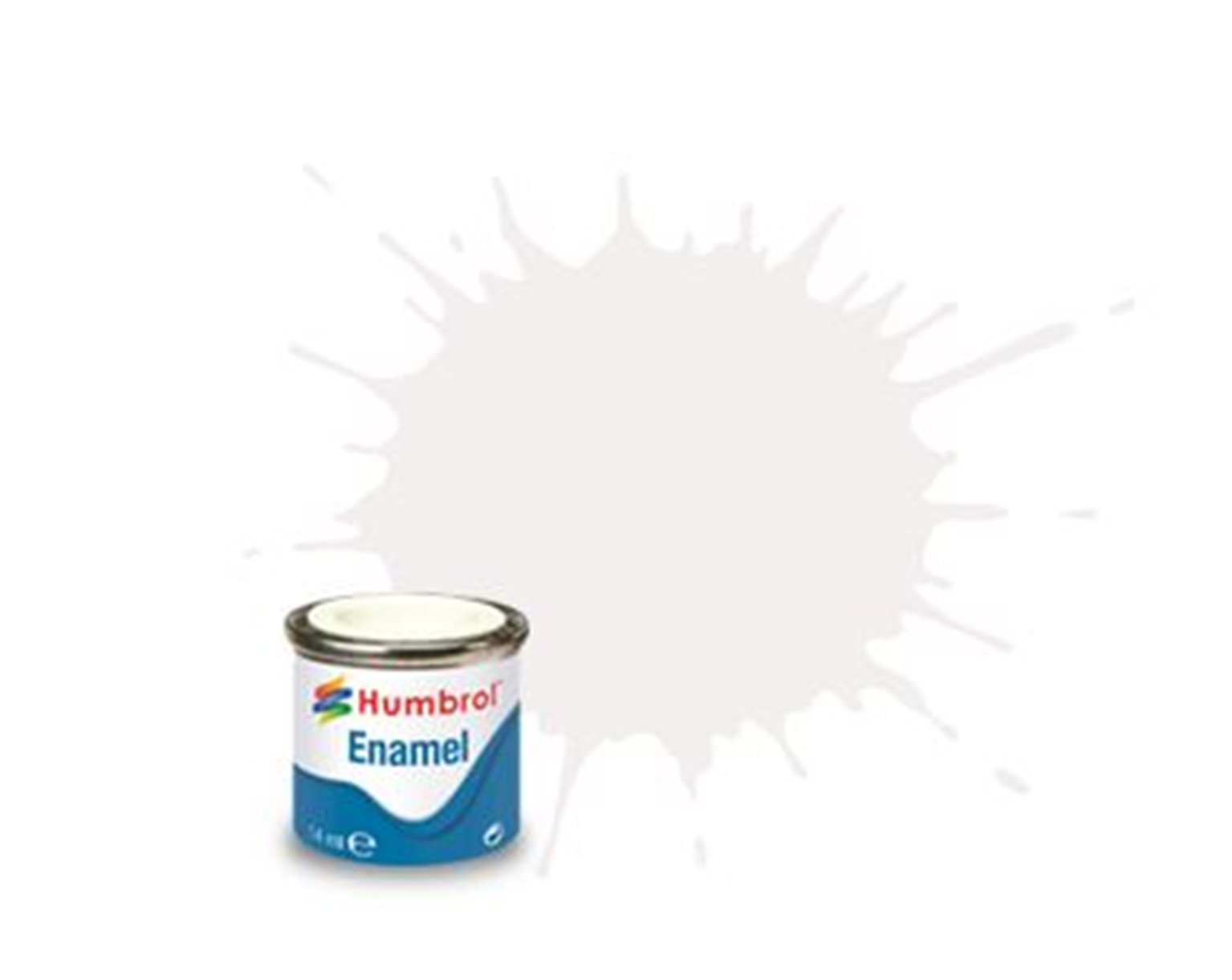 Humbrol 34 White Matt - 14ml Enamel Paint