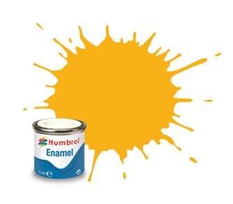 Humbrol 154 Insignia Yellow Matt - 14ml Enamel Paint