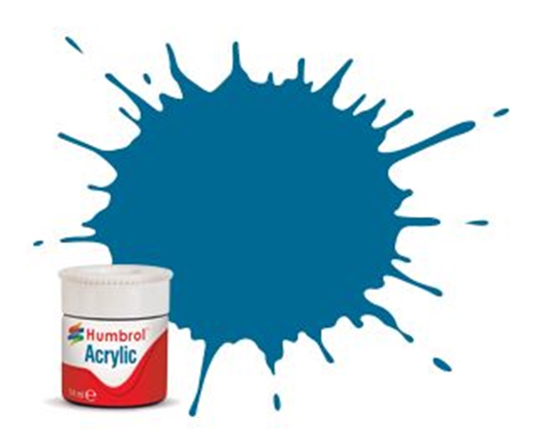Humbrol RC404 Garter Blue Matt - 14ml Acrylic Rail Colour Paint