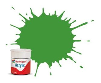 Humbrol RC408 Apple Green Matt - 14ml Acrylic Rail Colour Paint