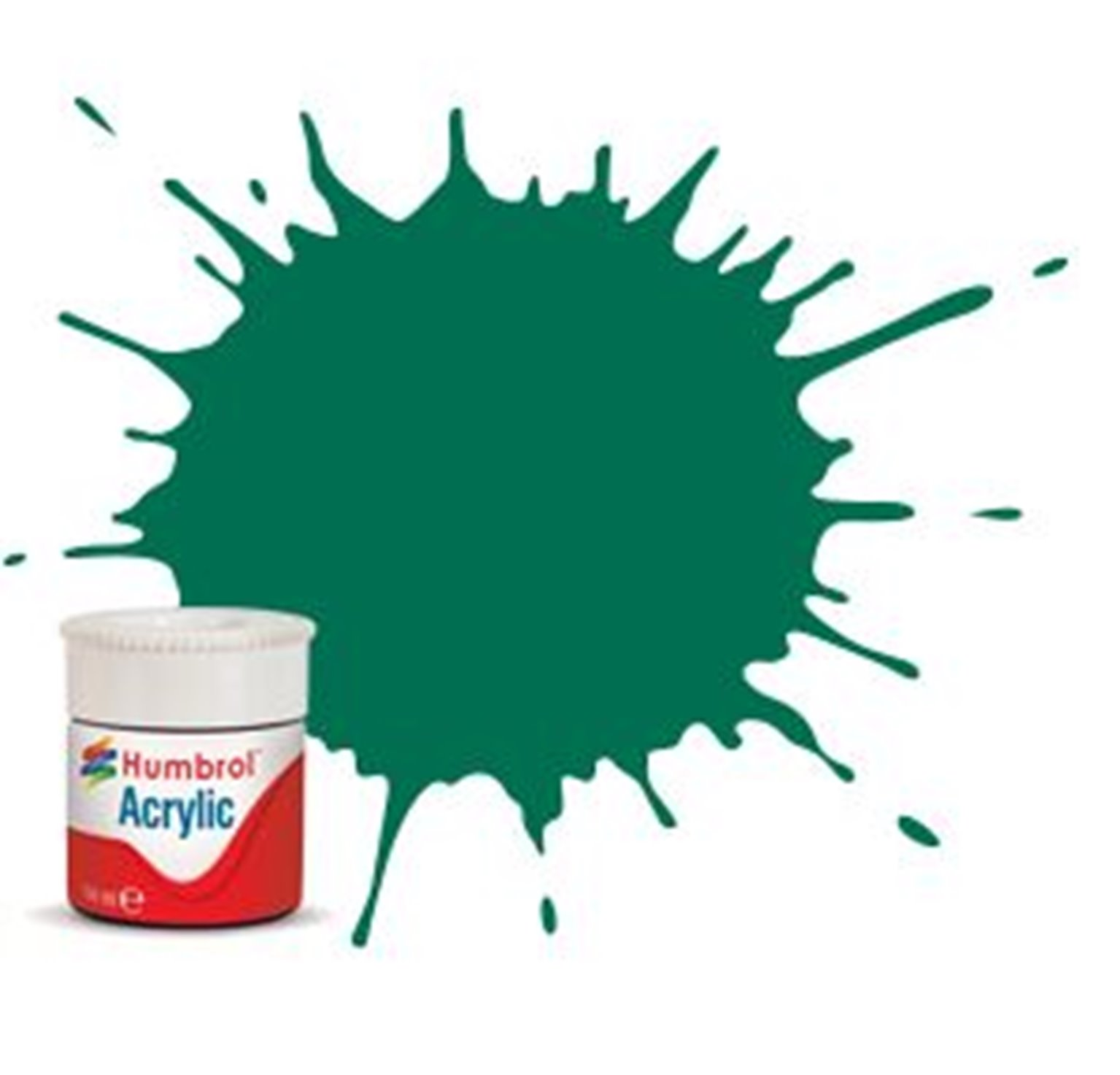 Humbrol RC409 Malachite Green Matt - 14ml Acrylic Rail Colour Paint