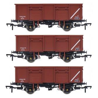 BR 21T COAL21VB / MDV Mineral Wagon Triple Pack - Bauxite Pre-TOPS- Pack C