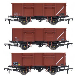 BR 21T COAL21VB / MDV Mineral Wagon Triple Pack - Bauxite Pre-TOPS- Pack E