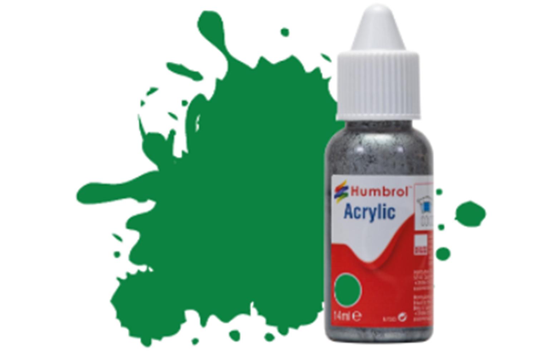 HUMBROL ACRYLIC DROPPER BOTTLE - No 2 Emerald Green - Gloss  - 14ml
