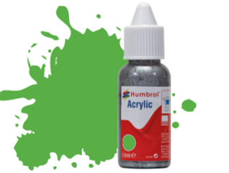 HUMBROL ACRYLIC DROPPER BOTTLE - No 37 Bright Green Matt - 14ml
