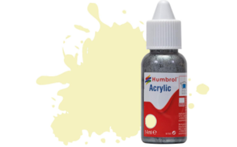 HUMBROL ACRYLIC DROPPER BOTTLE - No 41 Ivory - Gloss - 14ml