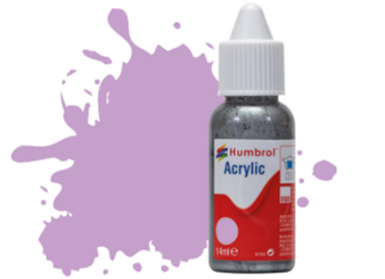 HUMBROL ACRYLIC DROPPER BOTTLE - No 42 Pastel Violet Matt - 14ml