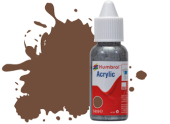 HUMBROL ACRYLIC DROPPER BOTTLE - No 98 Chocolate Matt - 14ml