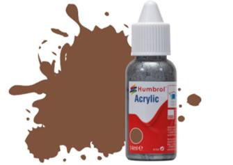HUMBROL ACRYLIC DROPPER BOTTLE - No 186 Brown - Matt   - 14ml