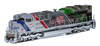"""SD70ACe Union Pacific UP #1943 """"Spirit of Union Pacific"""" Locomotive with DCC Sound"""