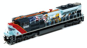 """SD70ACe Union Pacific UP #1111 """"Powered by our People"""" Locomotive (DCC Ready)"""