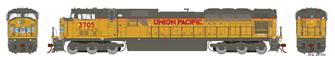 Union Pacific UP G2 SD90MAC Locomotive #3705 with DCC Sound