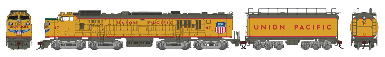 Union Pacific UP Veranda Gas Turbine Locomotive with Tender #67 (DCC Ready)