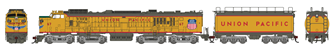Union Pacific UP Veranda Gas Turbine Locomotive with Tender #67 with DCC Sound