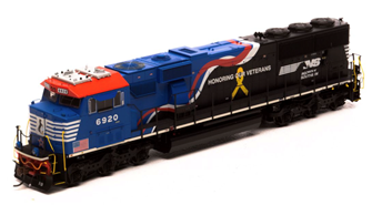 """SD60E Norfolk Southern NS #6920 """"Honor Our Veterans"""" Locomotive with DCC Sound"""