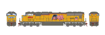 Union Pacific SD70M UP Early Flare Locomotive #4884 (DCC Ready)