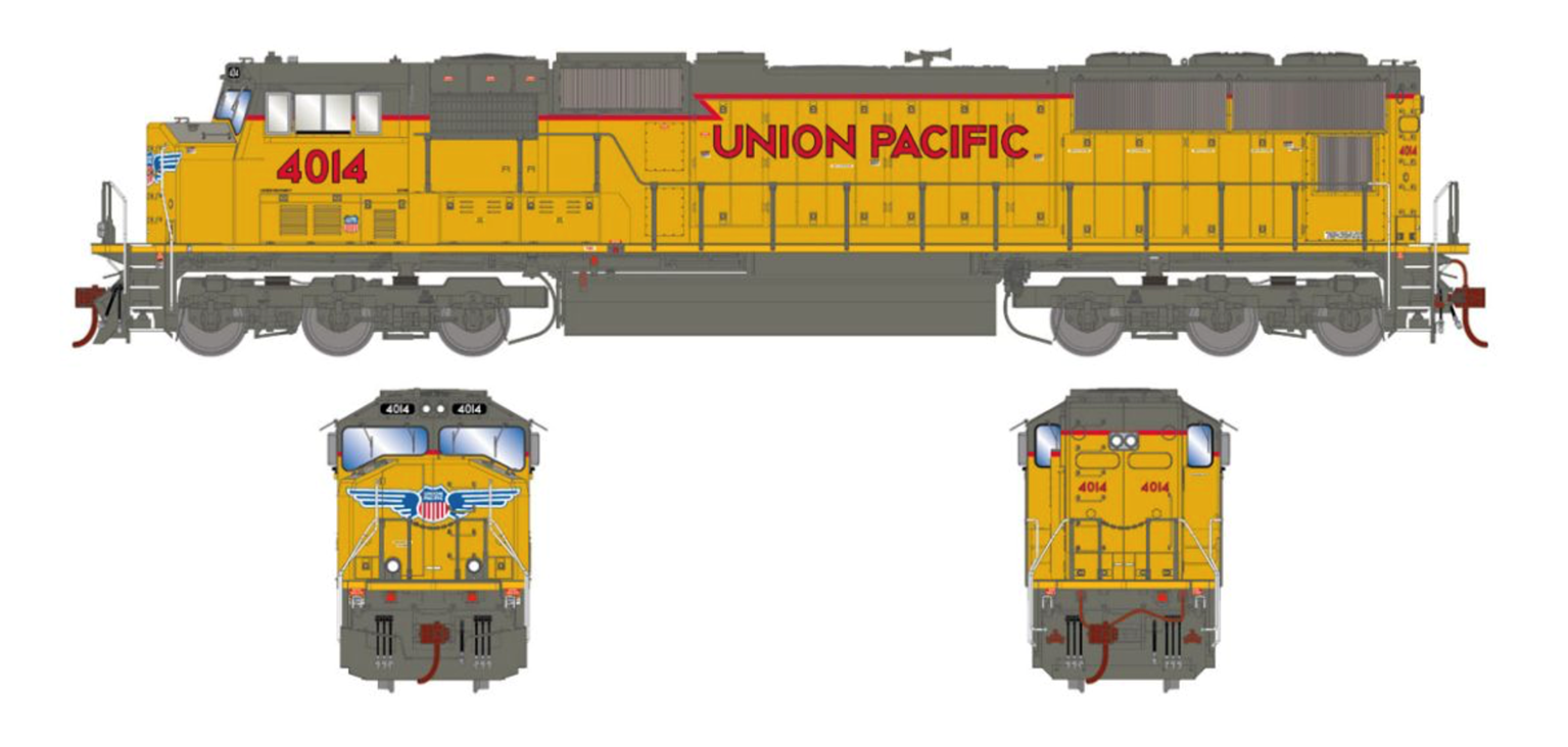 SD70M Union Pacific UP #4014 Locomotive with DCC Sound