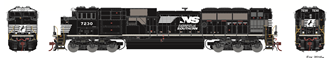 Norfolk and Southern NS G2 SD70ACu Locomotive No.7312 with DCC Sound