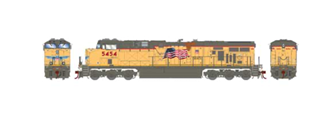 ES44AC Union Pacific UP/Fader Locomotive #5454 with DCC Sound
