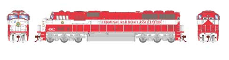 HO SD60I TRRA/Red/White #4002 w/DCC & Sound