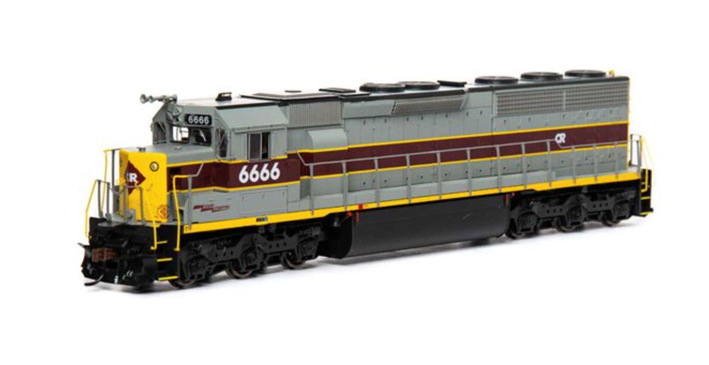 SD45-2 CR ex EL Locomotive #6666 with DCC Sound