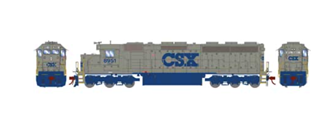 SD45-2 CSX Solid Grey Locomotive #8951 DCC with Sound