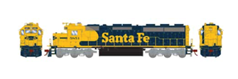 SD45-2 Santa FeSF/Freight Locomotive #5851 with DCC Sound
