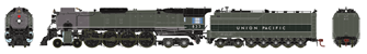 Union Pacific FEF-2 4-8-4 Steam Locomotive #833 (DCC Ready)