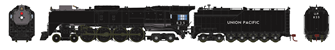 Union Pacific FEF-3 4-8-4 Steam Locomotive #835 DCC SOUND