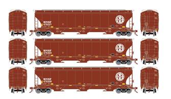 Trinity 3-Bay Hopper BNSF Circle Cross #2 (3 Pack)
