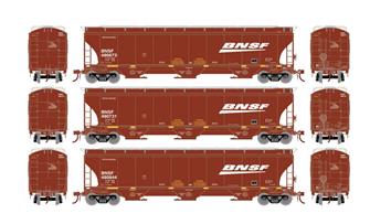 Trinity 3-Bay Hopper, BNSF/Wedge #2 (3 Pack)