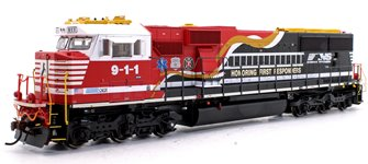 "SD60E Norfolk Southern NS #9-1-1 ""Honoring First Responders"" Locomotive with DCC Sound"