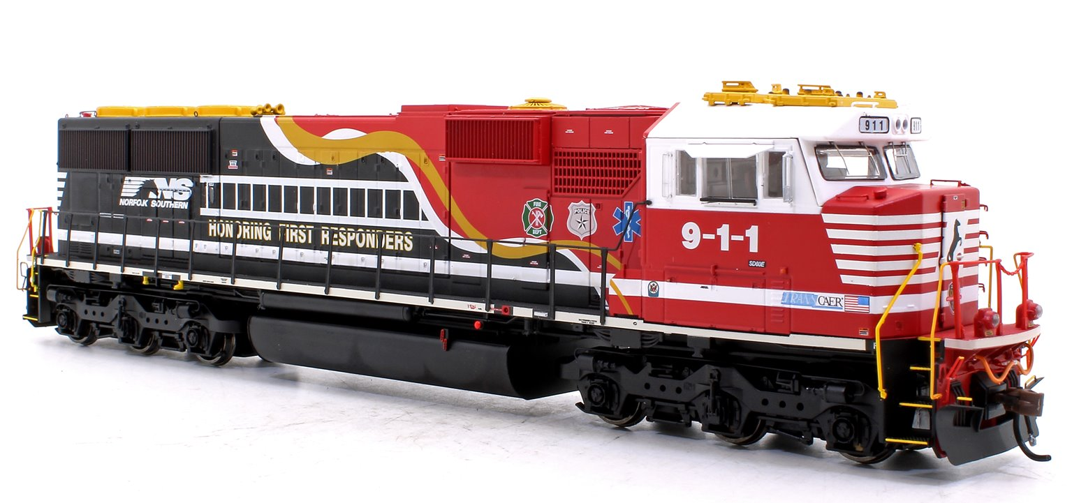 """SD60E Norfolk Southern NS #9-1-1 """"Honoring First Responders"""" Locomotive with DCC Sound"""