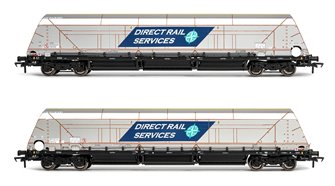 HYA Bogie Hopper Wagon Direct Rail Services DRS Twin Pack