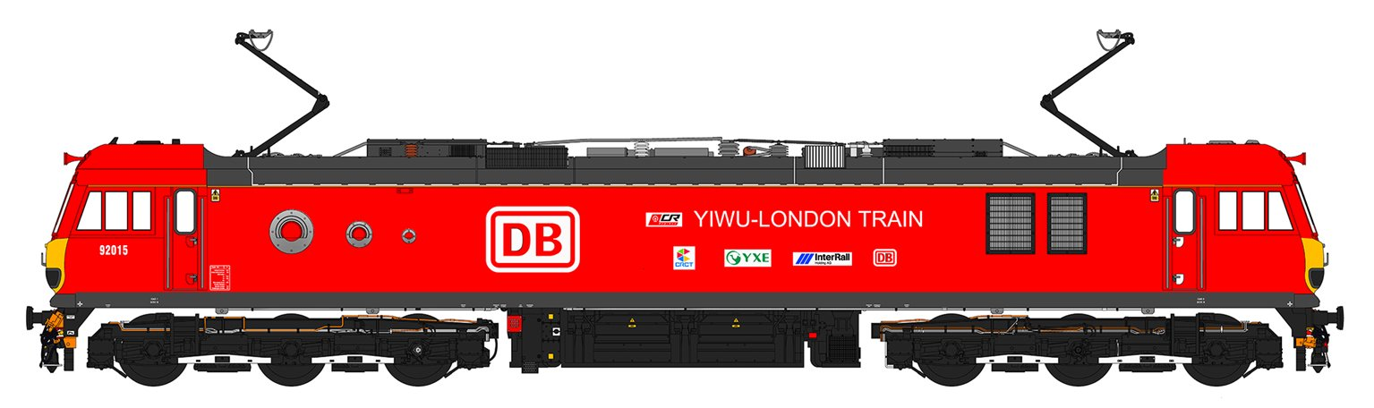 Class 92 015 'Yiwu-London Train' DB Schenker Electric Locomotive DCC Sound