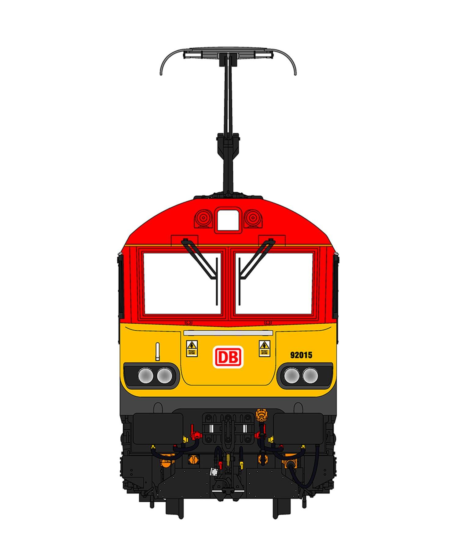 Class 92 015 'Yiwu-London Train' DB Schenker Electric Locomotive