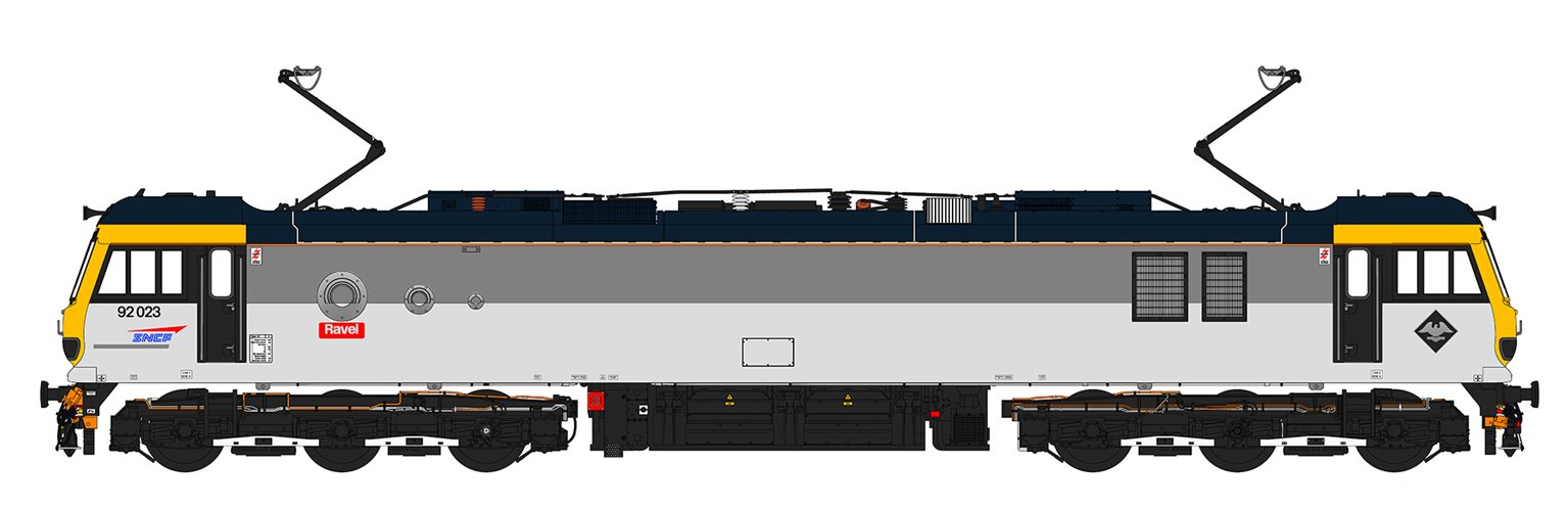 Class 92 023 'Ravel' SNCF Grey Electric Locomotive