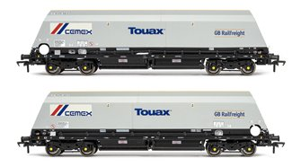 Cutdown HYA Wagon Twin Pack - GBRf/Cemex w/Touax logos (Pack 1)