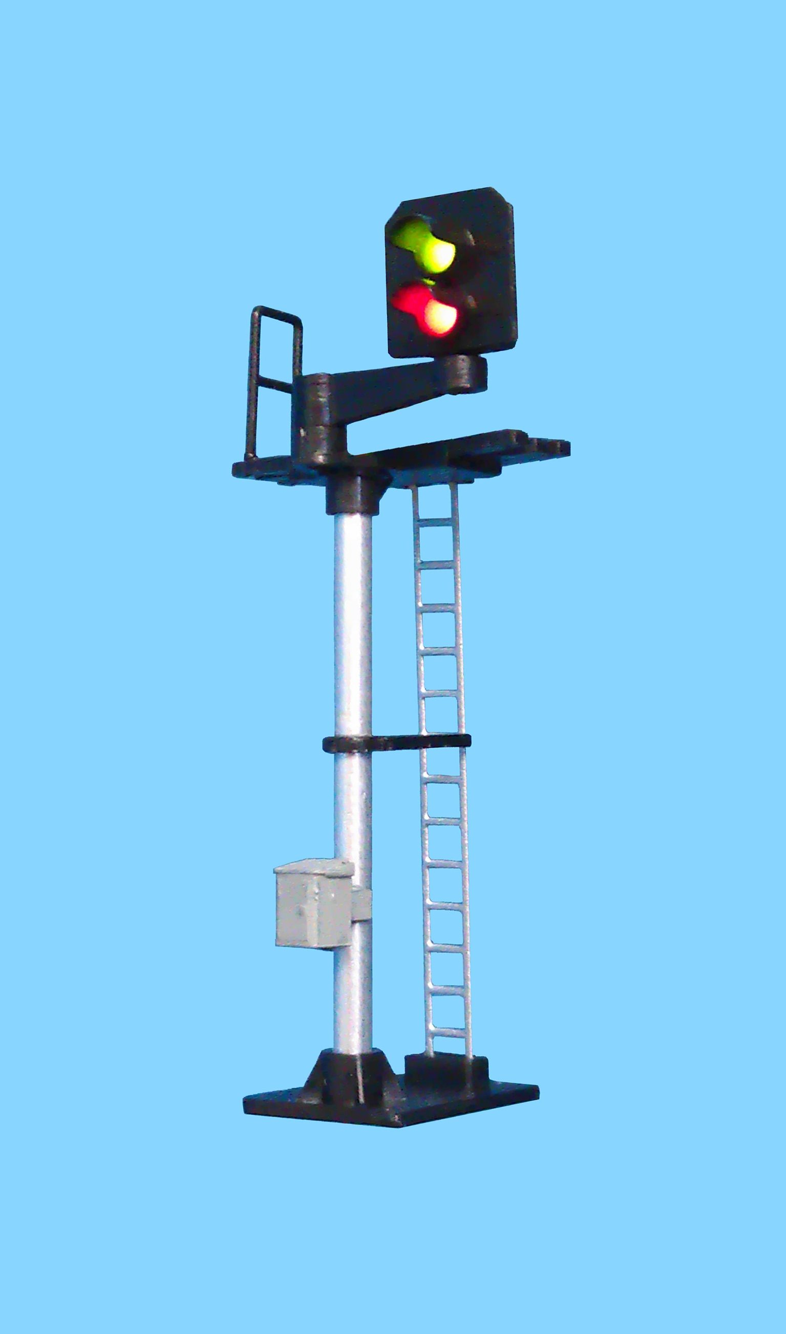 2 Light Signal Red/Green Standard Right Offset Square Head