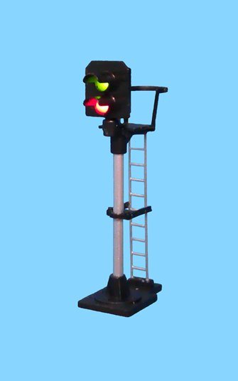 2 Light Signal Red/Green Platform Starter Square Head