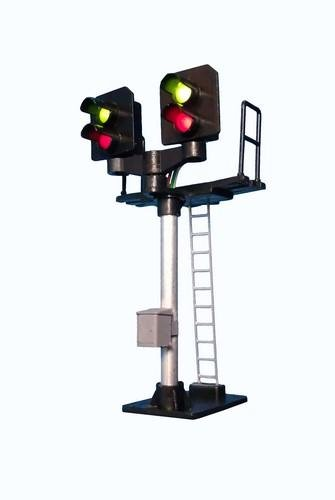 2 Light Signal Red/Green Short Post T Junction Square Head